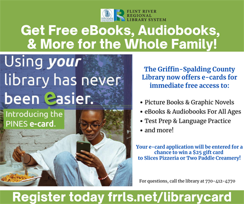 flyer for free library card